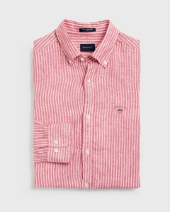 Gant Slim Fit Linnen Bankershirt Mineral Red