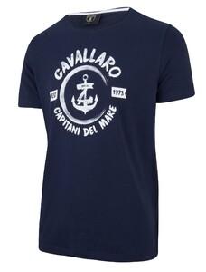Cavallaro Napoli Capitano Tee Navy