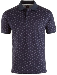 Paul & Shark Navy Shark Pattern Polo Navy