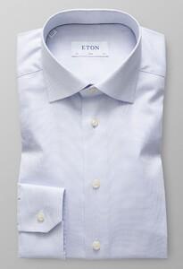 Eton Melange Micro Weave Licht Blauw