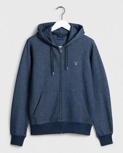 Gant The Original Full Zip Hoodie Blue Melange