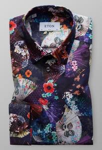 Eton Pointed Floral Fantasy Multicolor
