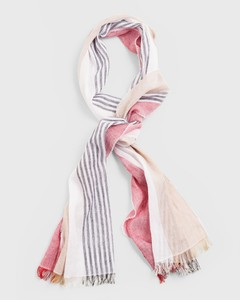 Gant Block Stripe Scarf Wood Brown
