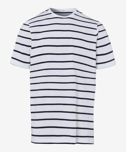 Brax Troy Striped T-Shirt Wit