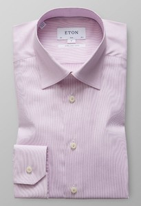 Eton Slim Sleeve 7 Royal Dobby Roze