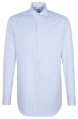 Jacques Britt Sleeve 7 Striped Twill Blauw