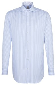 Jacques Britt Sleeve 7 Striped Twill Blauw