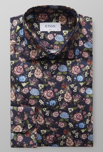 Eton Flower Signature Twill Dark Navy