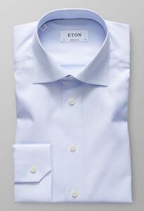 Eton Diamond Weave Cutaway Licht Blauw