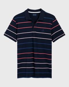 Gant Striped Pique Rugger Avond Blauw