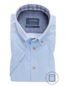 Ledûb Modern Short Sleeve Summer Licht Blauw