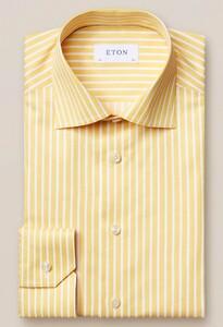 Eton Bengal Stripe Signature Twill Geel Melange