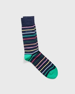 Gant Multistripe Socks Persian Blue