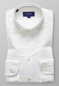 Eton Slim Cotton Silk Wit