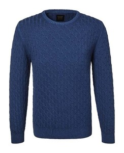 Pierre Cardin Round Neck Voyage Cable Sweater Marine