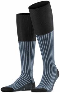 Falke Oxford Stripe Antraciet Melange