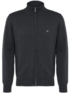 Fynch-Hatton Cardigan Zip Uni Charcoal