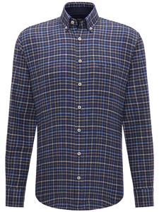 Fynch-Hatton Flannel Combi Check Navy