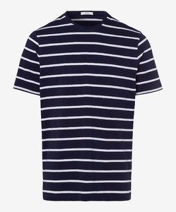 Brax Troy Striped T-Shirt Ocean
