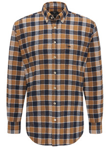 Fynch-Hatton Heavy Flannel Combi Check Mosterd