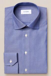 Eton Diamond Weave Blauw