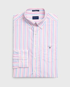 Gant The Broadcloth 3 Color Stripe Pink Rose
