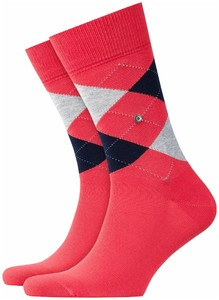 Burlington King Socks Coral Red Melange