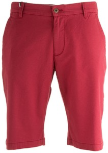 Gardeur Jasper Fine Structured Stretch Bermuda Rood