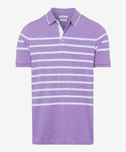 Brax Paco Striped Pima Cotton Lavender