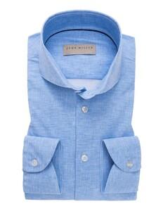 John Miller Slim Fit Cutaway Faux Uni Mid Blue