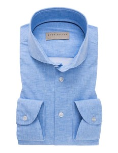 John Miller Slim Fit Cutaway Faux Uni Midden Blauw