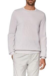 Maerz Uni Cotton Round Neck Pure White