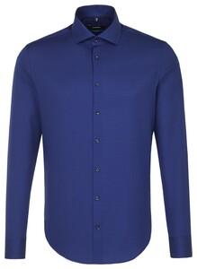 Seidensticker Textured Uni Business Blauw