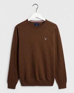 Gant Cotton Wool Pullover Dark Hazelnut Melange