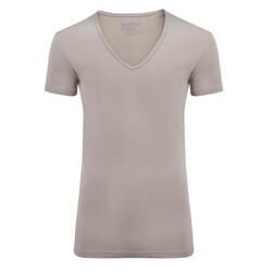 Slater Stretch 2-pack T-shirt Deep V-neck Khaki