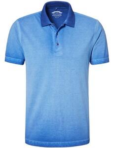 Pierre Cardin Piqué Polo Denim Academy Midden Blauw