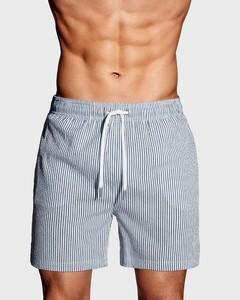 Gant Seersucker Swim Shorts Persian Blue