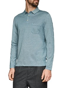 Maerz Polo Long Sleeve Aquarius
