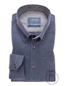 Ledûb Soft Feel Pure Cotton Shirt Donker Blauw