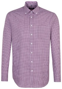 Seidensticker Check Line Button Down Lila