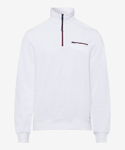Brax Sion Uni Sweat Detail Contrast White