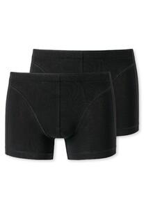 Schiesser Shorts 2Pack Zwart