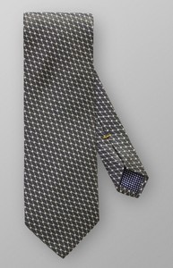 Eton Geometric Tie Donker Groen