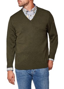 Maerz V-Neck Merino Superwash Hunter