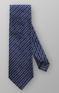 Eton Jacquard Striped Tie Dark Navy