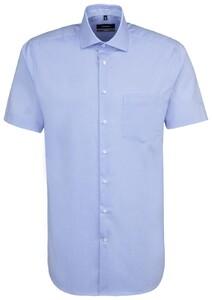 Seidensticker Short Sleeve Spread Kent Intens Blauw