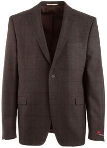 Atelier Torino Roma Modern Wool Check Dark Brown Melange