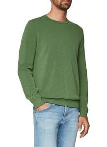 Maerz Uni Cotton Round Neck Mixed Green