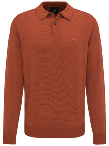 Fynch-Hatton Polo Long Sleeve Burnt Sienna