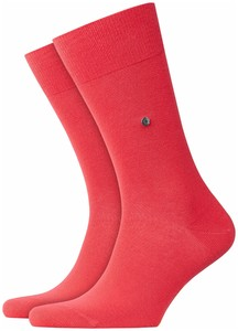 Burlington Lord Socks Coral Red Melange